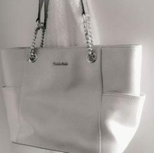 Calvin Klein Silver Metallic Handbag